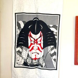 Japanese Samurai Kabuki Danjuro Noren Door Curtain